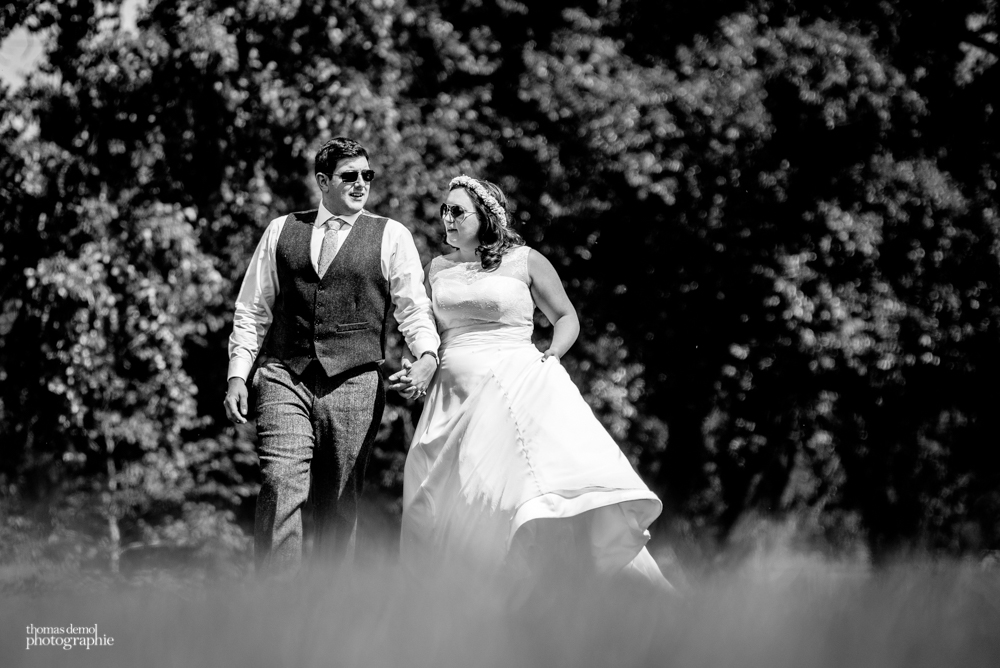 Bride and groom portrait photography at Talton Lodge