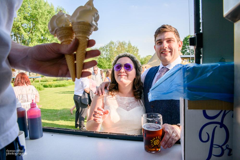 Ice cream van at Talton Lodge