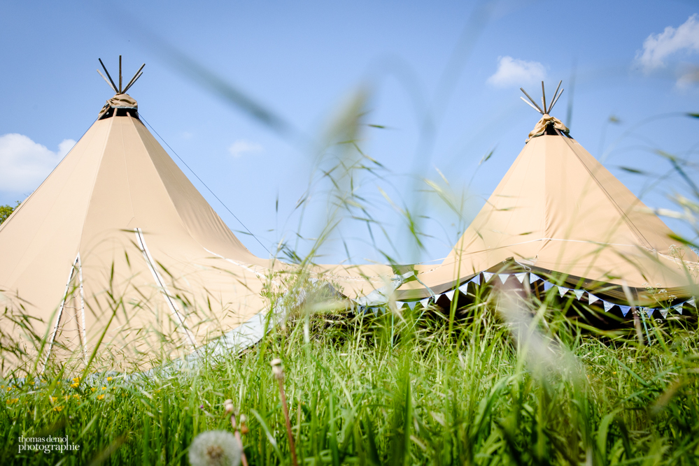 Tipi wedding t Talton Lodge