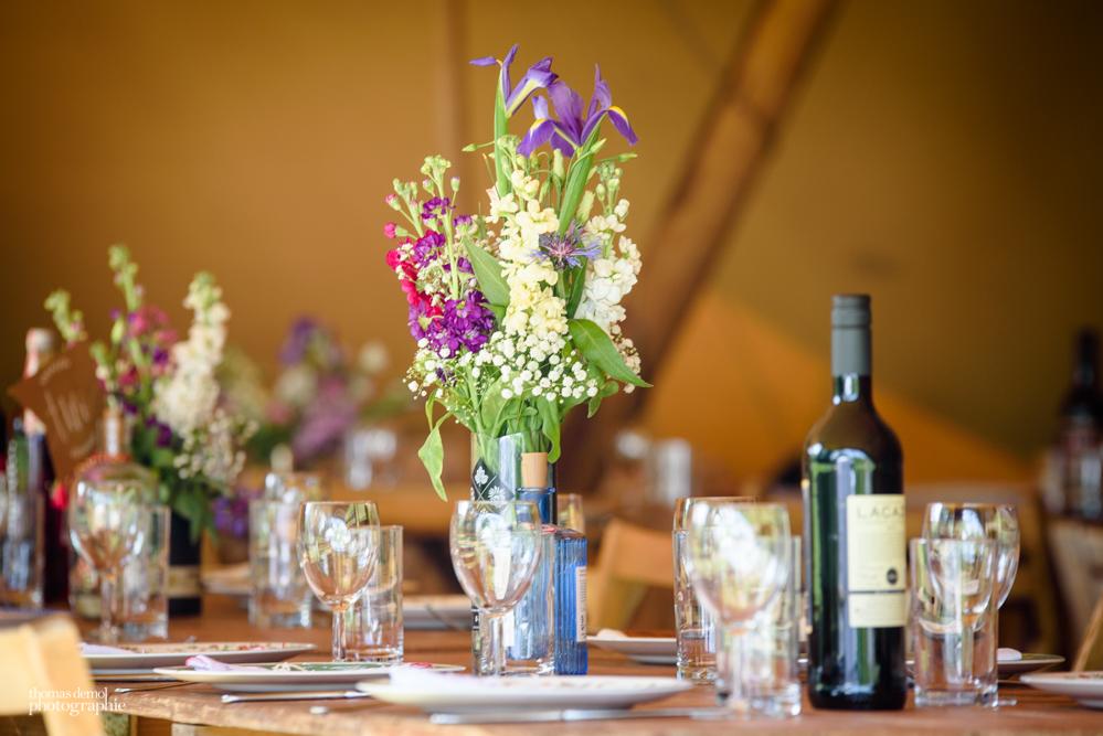 Tipi wedding t Talton Lodge
