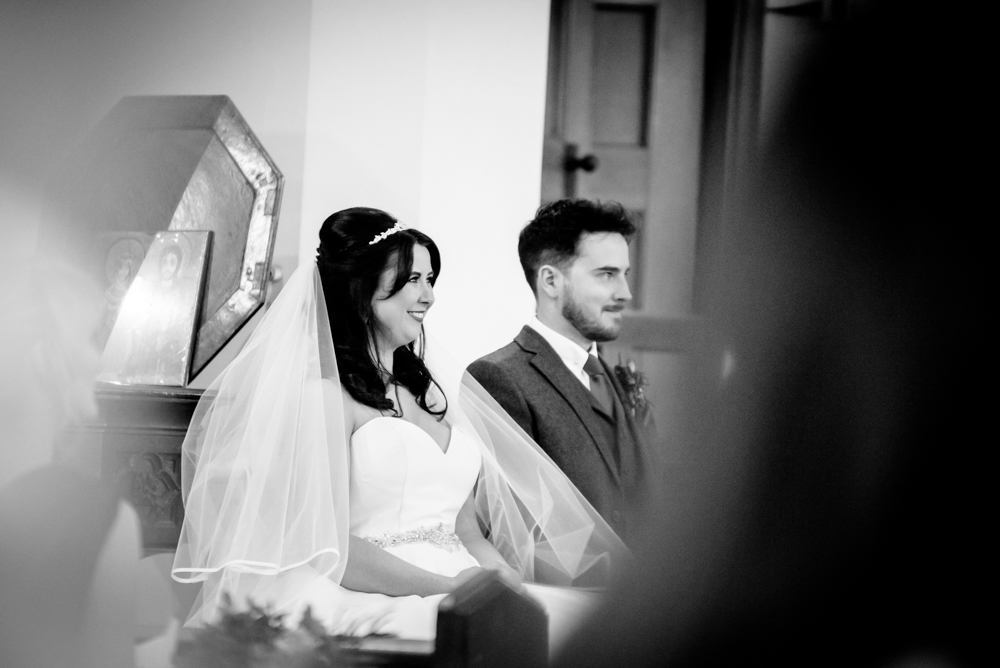 Church wedding at St Mary's Church in Middlewich