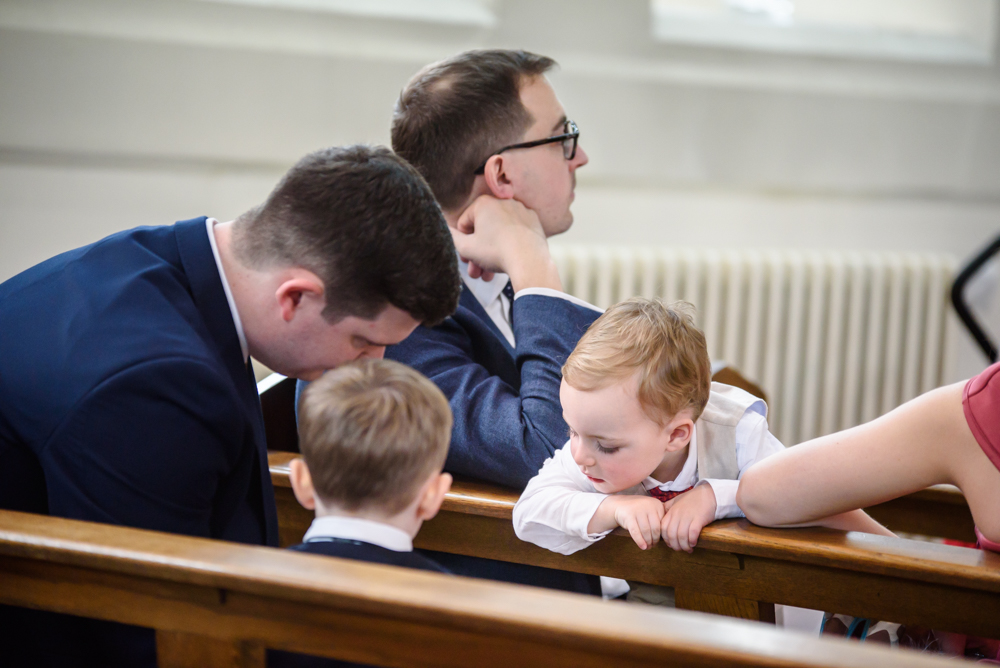 Children during their own things during the ceremony at St Mary's Church in Middlewich