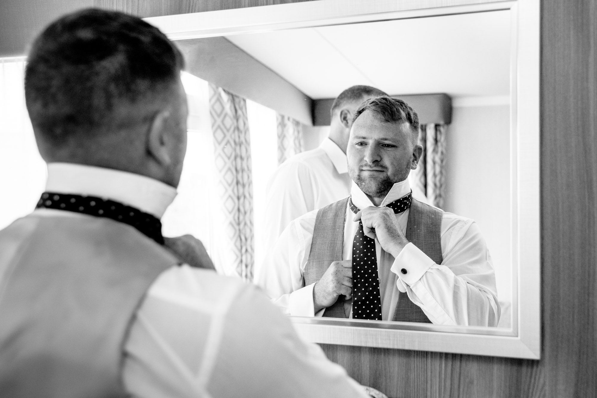 Groom getting ready in rhosneigr