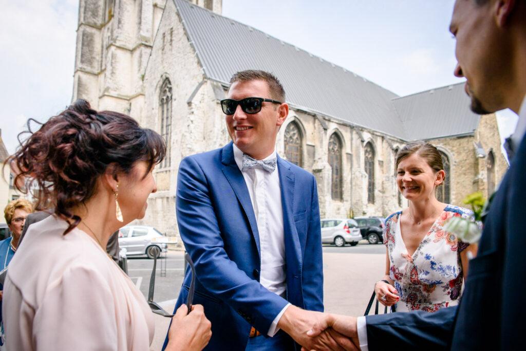 Wedding guest greeting