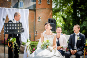 Funny wedding ceremony in France