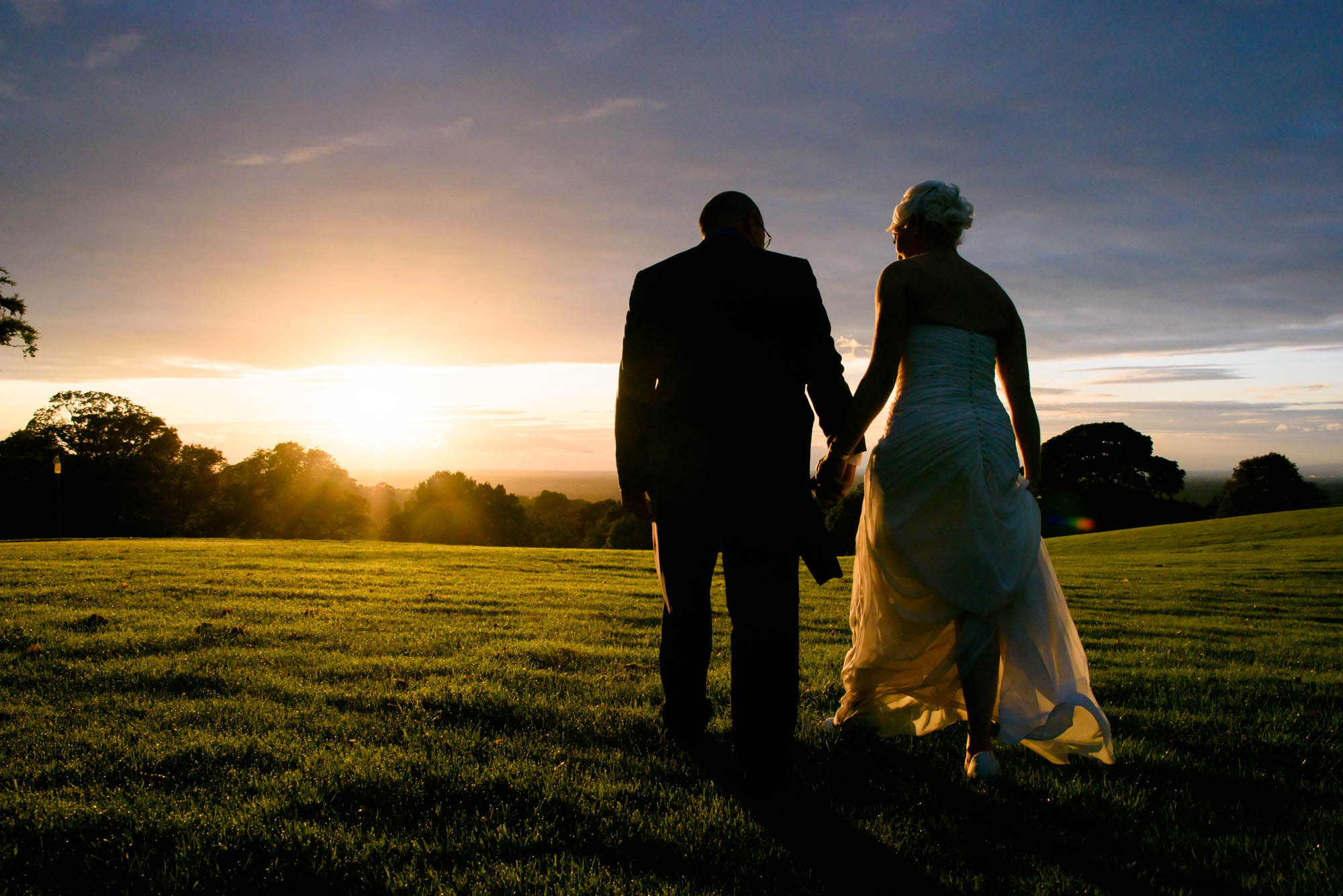 Relaxed portrait in the sunset of Shrigley Hall