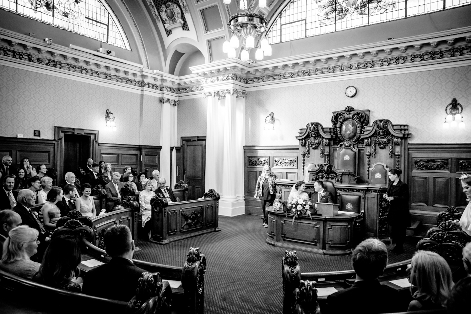 Wide shot of the Council Chamber Stockport