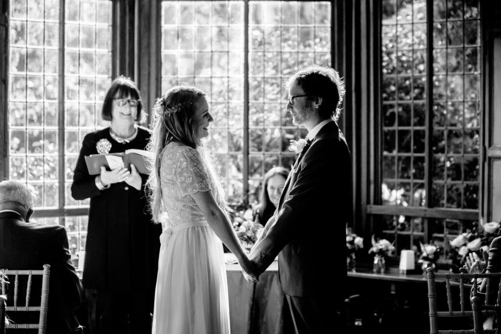 Wedding ceremony at Didsbury Parsonage